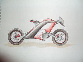 j'ai ici essayé de reproduire un prototype de moto vu dans un magazine
