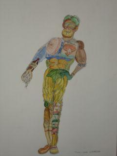 """un vieux dessin, voulu être dans l'esprit """"arcimboldo"""""""